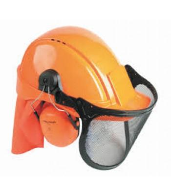 lesnícky komplet ochrany hlavy  a sluchu